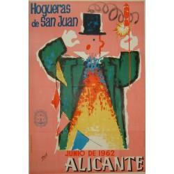 ALICANTE 1962 HOGUERAS DE SAN JUAN