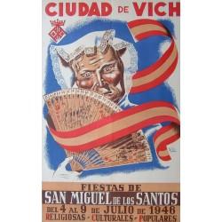 CIUDAD DE VICH FIESTAS DE SAN MIGUEL 1946- VIC