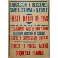 STA COLOMA DE QUERALT.FIESTA MAYOR 1958