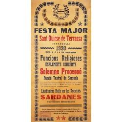 TERRASSA. FESTA MAJOR DE SANT QUIRZE 1930