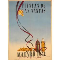 MATARO. FIESTAS DE LAS SANTAS 1951