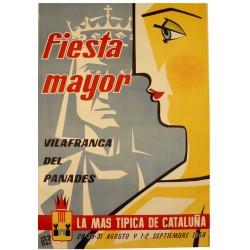 FIESTA MAYOR VILAFRANCA DEL PANADES 1958