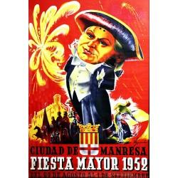 CIUDAD DE MANRESA.FIESTA MAYOR 1952