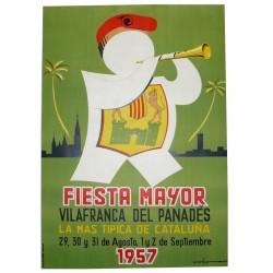 FIESTA MAYOR VILAFRANCA DEL PANADES 1957