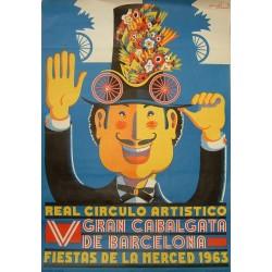 V GRAN CABALGATA.1963.. FIESTAS DE LA MERCED. REAL CIRCULO ARTISTICO