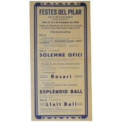 IGUALADA FESTES DEL PILAR 1930