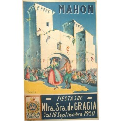 MAHON 1950 FIESTAS DE NUESTRA SEÑORA DE GRACIA