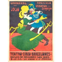 CARNAVAL BARCELONA 1910. SOC. LA BUENA SOMBRA