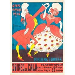 CARNAVAL BARCELONA 1910. LA BUENA SOMBRA
