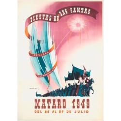 FIESTAS DE LAS SANTAS MATARO 1949