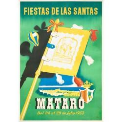 FIESTAS DE LAS SANTAS MATARO 1953