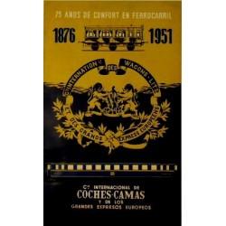 1876-1951 CIA. INTERNATIONALE WAGONS-LLITS, COCHES-CAMA