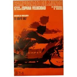 CAMPEONATO DEL MUNDO 1967. 17 GRAN PREMIO ESPAÑA DE VELOCIDAD.