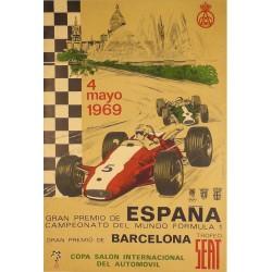 GRAN PREMIO DE ESPAÑA FORMULA 1 - 1969