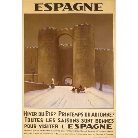 Espagne Avila Original Poster Barcelona
