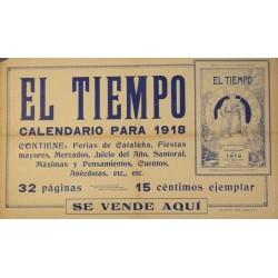 EL TIEMPO, CALENDARIO PARA 1918