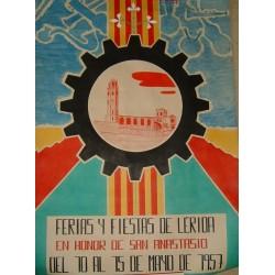 LERIDA FERIA Y FIESTAS SAN ANASTASIO 1957