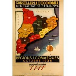 REGIONS Y COMARQUES OCTUBRE 1936
