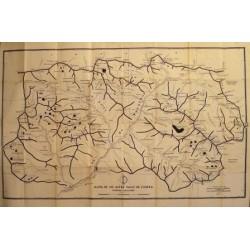 MAPA DE LES ALTES VALLS DE L'ESERA PIRINEU ARAGONES