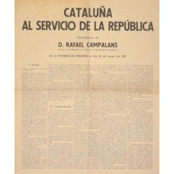 CATALUÑA AL SERVICIO DE LA REPÚBLICA