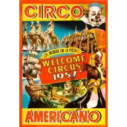 CIRCO AMERICANO. WELCOME CIRCUS 1957