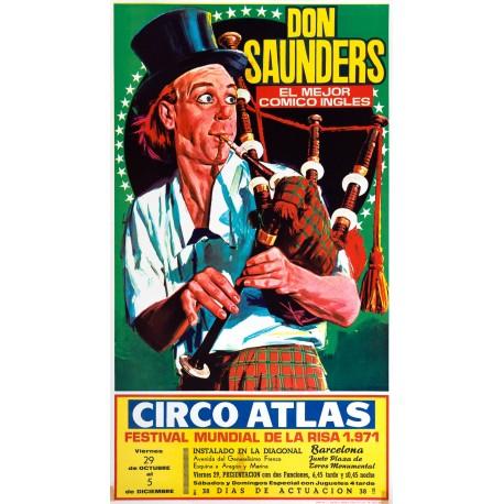 DON SANDERS. EL MEJOR COMICO INGLES. CIRCO ATLAS