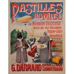 PASTILLES AU MIEL. G. DARMAND. CLERMONT-FERRAND