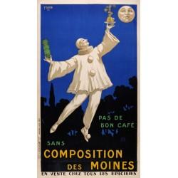 BON CAFÉ. COMPOSITION DES MOINES. 1925