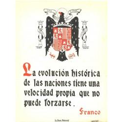 LA FRASE QUINCENAL 'LA EVOLUCIÓN HISTORICA DE LAS NACIONES...' FRANCO