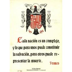 LA FRASE QUINCENAL 'CADA NACION ES UN COMPLEJO, ...' FRANCO