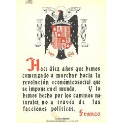 LA FRASE QUINCENAL 'HACE DIEZ AÑOS QUE HEMOS COMENZADO ...' FRANCO