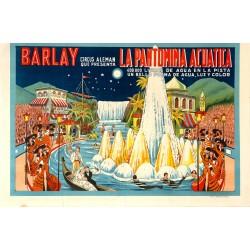 BARLAY CIRCUS ALEMAN. LA PANTOMIMA ACUATICA