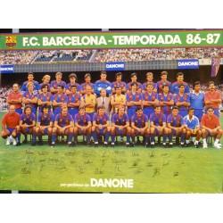 F.C. BARCELONA TEMPORADA 86-87